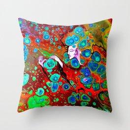 Atomic Witch Throw Pillow