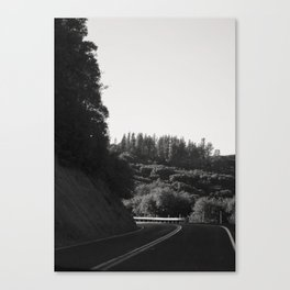 Wine Country Mountain Driving Canvas Print