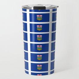Flag of alberta -albertan,calgary,edmonton,athabasca,wild rose,berta,Louise. Travel Mug