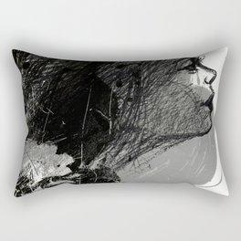 The Grey Tear Drop Rectangular Pillow