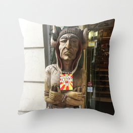 Chief woodenhead Throw Pillow