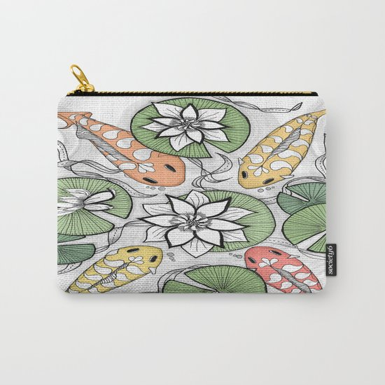 Koi Pond Gathering Carry-All Pouch