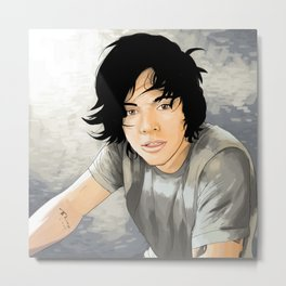 Flat Hair Harry #indie Metal Print