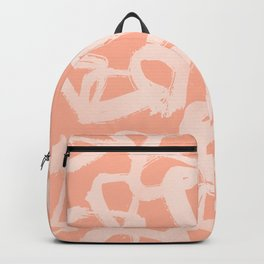 Sweet Life Triangle Dots Peach Coral Pink Backpack