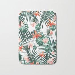 Tropical Flowers & Leaves Paradise #2 #tropical #decor #art #society6 Bath Mat