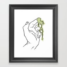 A Hand with Snot Framed Art Print