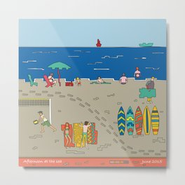 Afternoon at the sea Metal Print