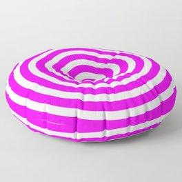 Circles (Magenta & White Pattern) Floor Pillow