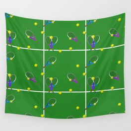 Tennis Rackets and Ball Wall Tapestry
