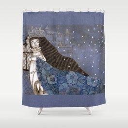 Schneewittchen-The Queen's Wish Shower Curtain