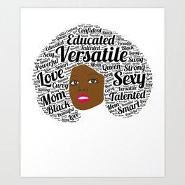 Black History Month African American Black Pride Shirt Light Art Print