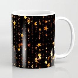 Golden Stars Sparkling Night Christmas Pattern Coffee Mug