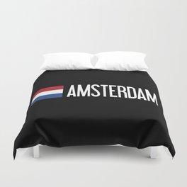 Netherlands: Dutch Flag & Amsterdam Duvet Cover