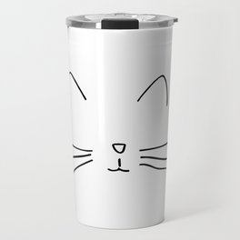 Minimalist Cat Outline Travel Mug