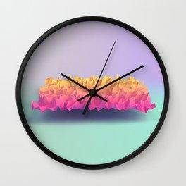 Low Poly Terrain Wall Clock
