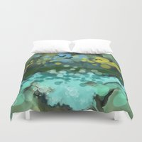 running Duvet Covers featuring Running water by thea walstra