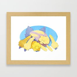 Joltik and Galvantula Framed Art Print