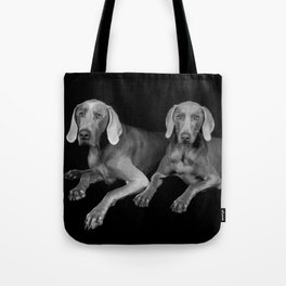 TWO WEIMARANERS Tote Bag