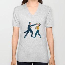 Abe Lincoln VS Captain Kirk Unisex V-Neck