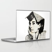 audrey Laptop & iPad Skins featuring Audrey by Krzyzanowski Art