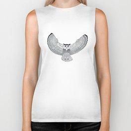 Eurasian Eagle owl Biker Tank