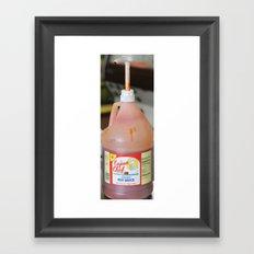 shrimp and hot sauce Framed Art Print