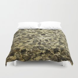 Pattern inked on rock Duvet Cover