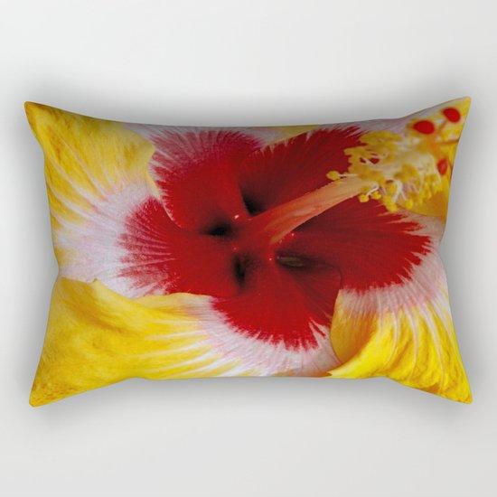 Yellow Burst Rectangular Pillow