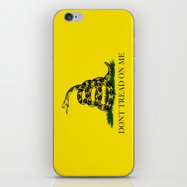 """Gadsden """"Don't Tread On Me"""" Flag, High Quality image iPhone Skin"""