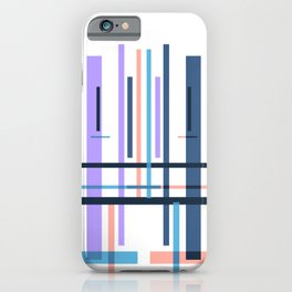 Purple blue abstract pattern stripes iPhone Case