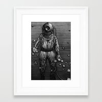 diver Framed Art Prints featuring Diver by courtneybass