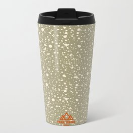 Trail Status / Beige Metal Travel Mug