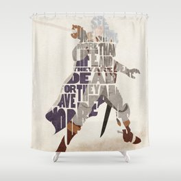 The White Falcon Shower Curtain