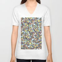 peanuts V-neck T-shirts featuring Peanuts by SpiritAnimal