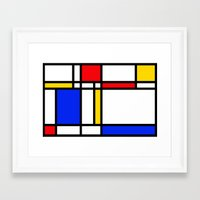 mondrian Framed Art Prints featuring Mondrian by The Wellington Boot