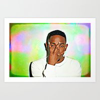 kendrick lamar Art Prints featuring Kendrick Lamar by Enna