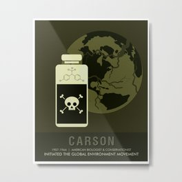 Science Posters - Rachel Carson - Biologist, Conservationist Metal Print