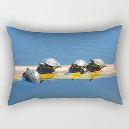 These Little Turtles  Rectangular Pillow