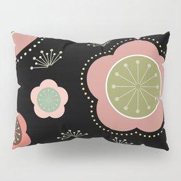 Japanese-inspired Plum Blossoms Pillow Sham