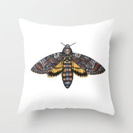 African Death's Head Hawkmoth (Acherontia atropos) Throw Pillow
