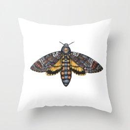 African Death's Head Hawkmoth (Acherontia atropos) Throw Pillow
