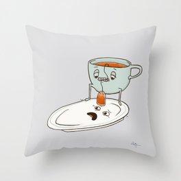 Tea Baggin' Throw Pillow