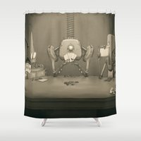 poker Shower Curtains featuring Bot Poker by Samize