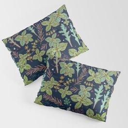 dark herbs pattern Pillow Sham