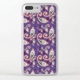 Oriental ornament purple . artwork Clear iPhone Case