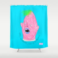 sloth Shower Curtains featuring SLOTH by Marina Nosequé