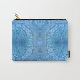 Paris Royal - Watercolor Art Deco Summer Blue Carry-All Pouch