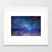 discount Framed Art Prints featuring Ocean, Stars, Sky, and You by Melissa Hui Wang (muddymelly)