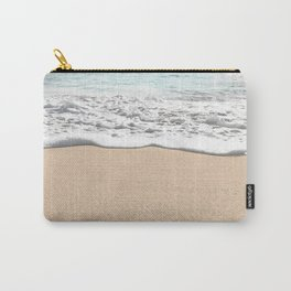 Wave Foam // California Ocean Pier Sandy Beaches Surf Country Pacific West Coast Photography Carry-All Pouch
