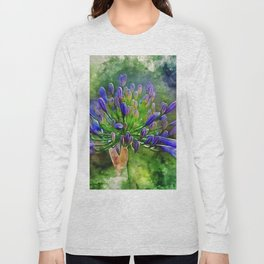 Agapanthus Flower Long Sleeve T-shirt